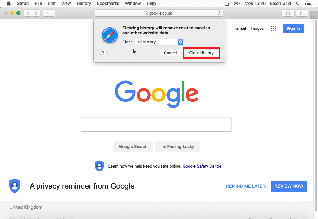Safari - How to Clear Browser Cache Step 2